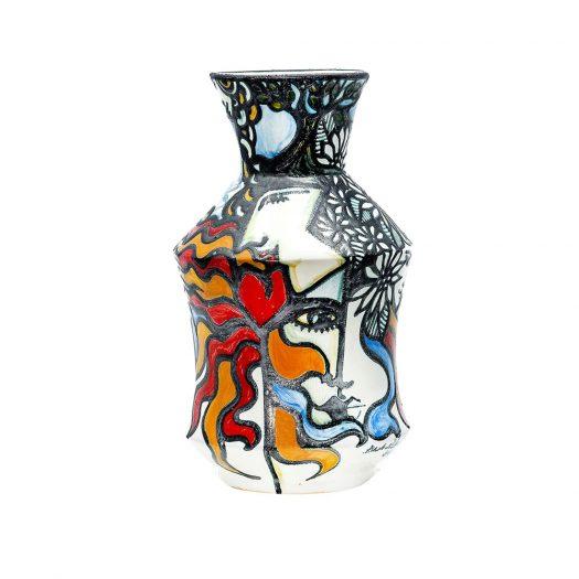Abstract Ceramic Flower Vase #1