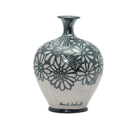 Floral Vase with a Slim Neck