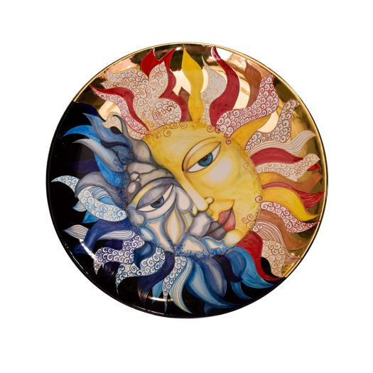Sun and Moon: Light and Shadow Decorative Plate