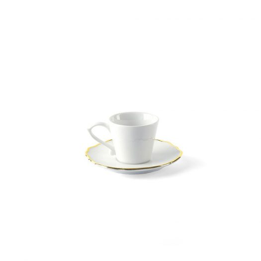 Coffee Cup w/ Saucer Gold Rim