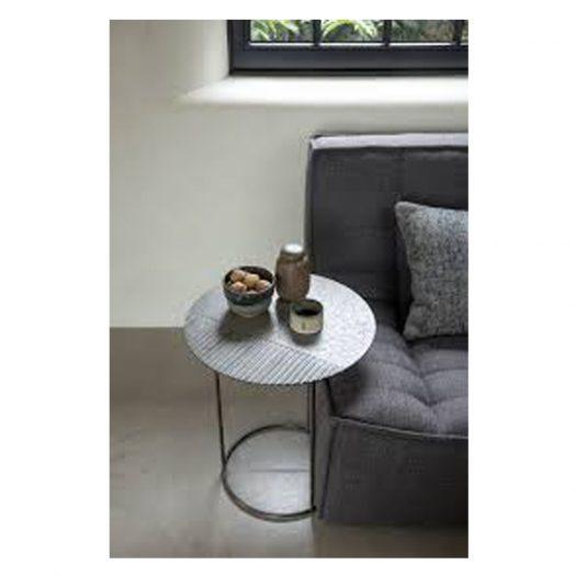 Celeste Side Table – Lava Linear – Black