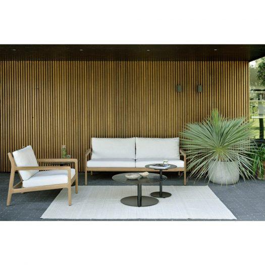 Teak Jack Outdoor Sofa – Off White