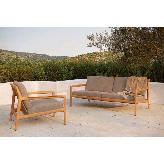 Teak Jack Outdoor Lounge Chair – Mocha