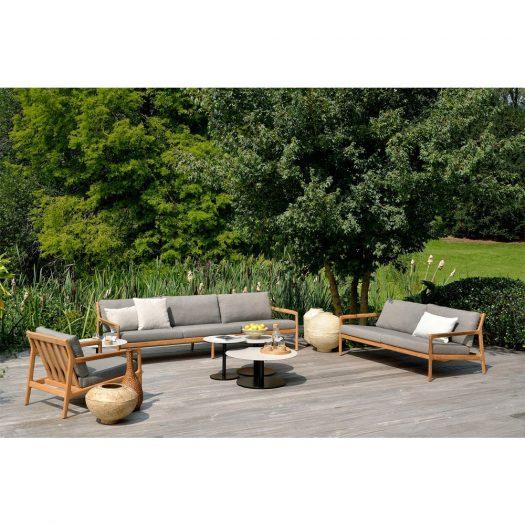 Teak Jack Outdoor Sofa – Mocha