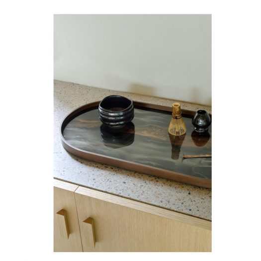 Bronze Organic Glass Tray – Oblong