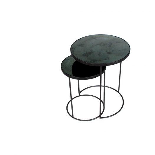 Charcoal Nesting Side Table Set`