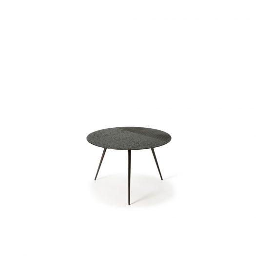 Luna Coffee Table - Lava Linear - Black