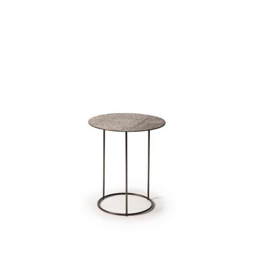 Celeste Side Table - Lava Linear - Taupe