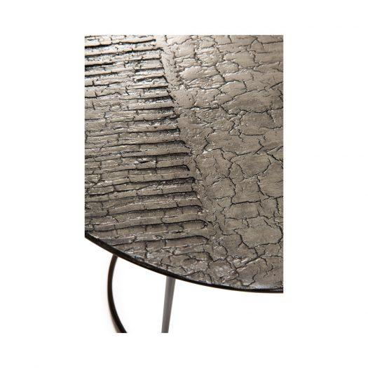 Celeste Side Table – Lava Linear – Taupe