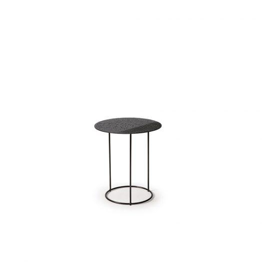 Celeste Side Table - Lava Linear - Black