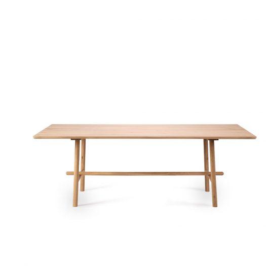 Oak Profile Dining Table - Varnished