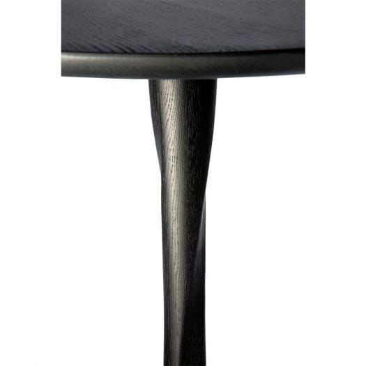 Oak Torsion Black Dining Table