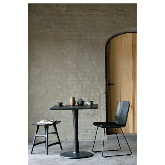 Oak Torsion Square Black Dining Table