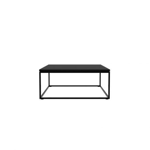 Oak Thin Black Coffee Table