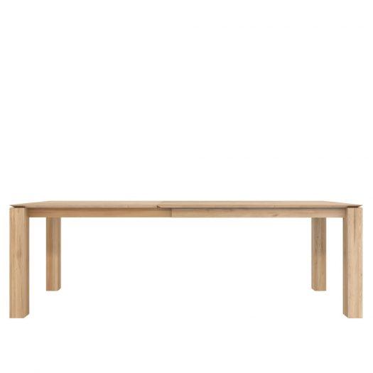 Oak Slice Extendable Dining Table