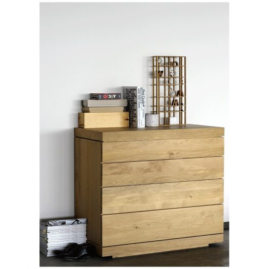Oak Burger Chest Of Drawers