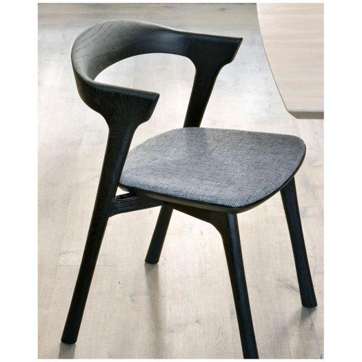 Oak Bok Black Dining Chair – Grey