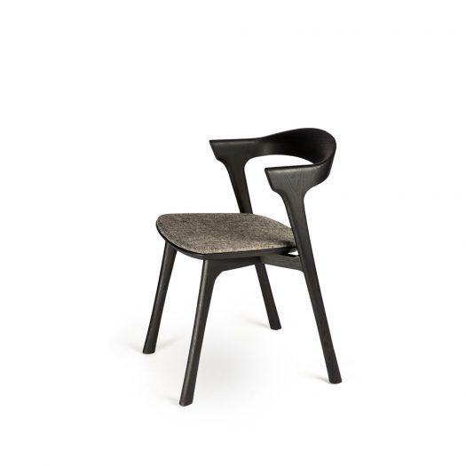 Oak Bok Black Dining Chair - Grey