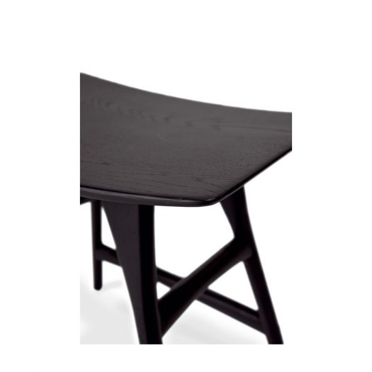 Oak Osso Black Stool