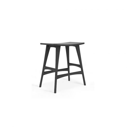 Oak Osso Black Counter Stool - Contract Grade