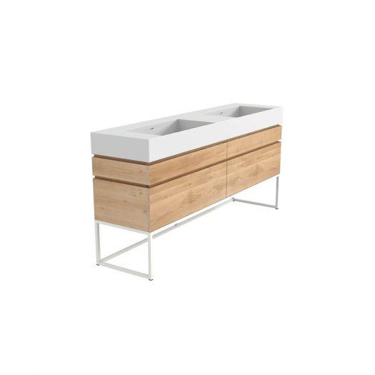 Oak Layers Sink Cabinet