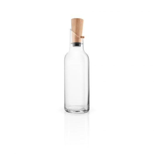 Glass Carafe W/Wood Stopper