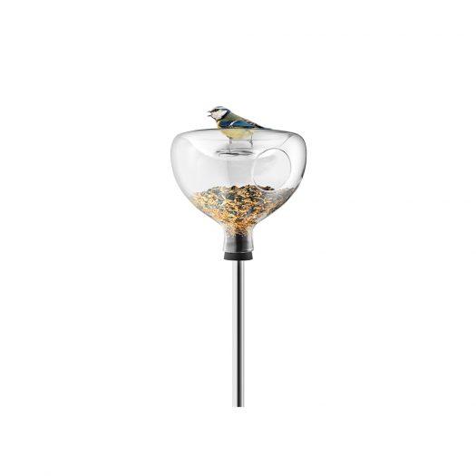Glass Bird Table W/Bath