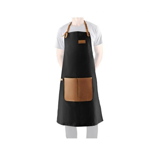 Apron In Canvas And Leather