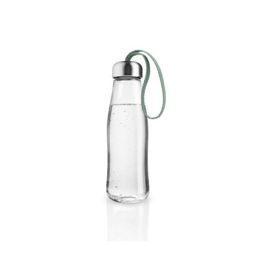Glass Drinking Bottle 0.5L Faded Green