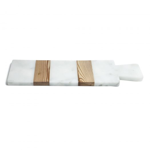 White Marble and Wooden Chopping Board
