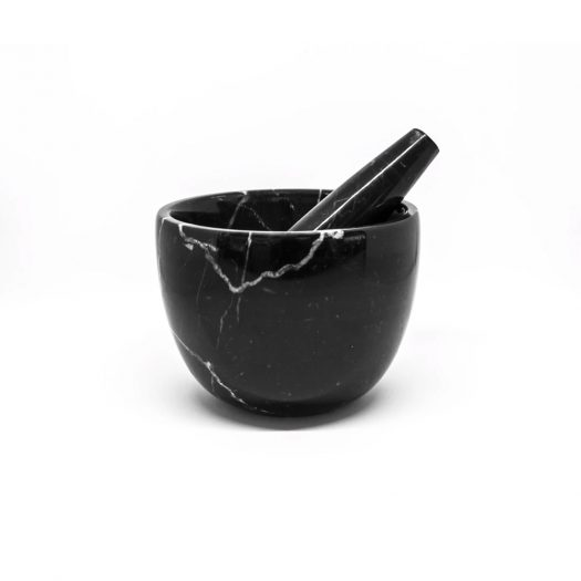 Little Marble Mortar with Pestle, Black