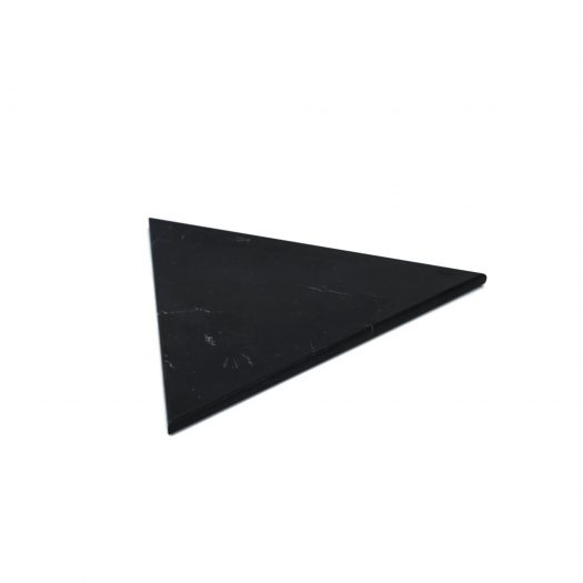 Triangular Black Marquina Marble Plate with Cork