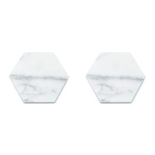 Set of 2 Hexagonal Coasters with Cork