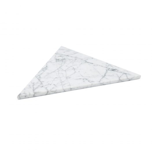 Triangular white Marble Plate with Cork