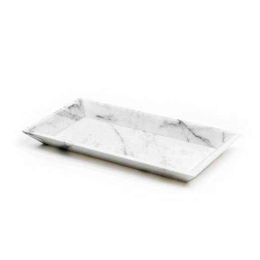 Marble Serving Tray White