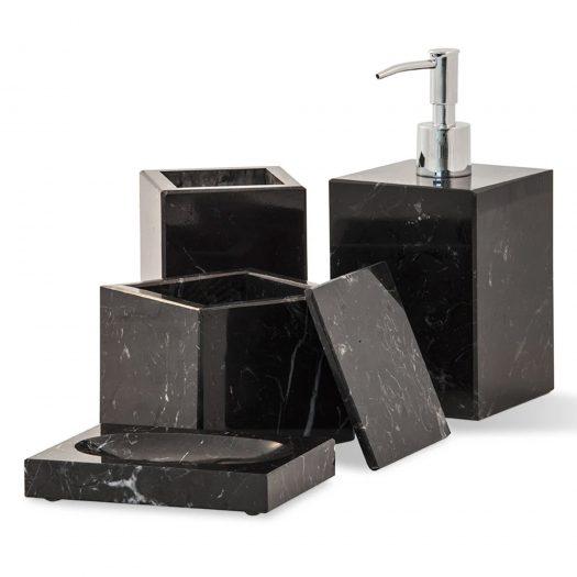 Marble Soap Pump Dispenser Black