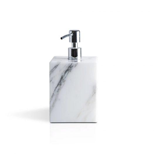 Marble Soap Pump Dispenser White