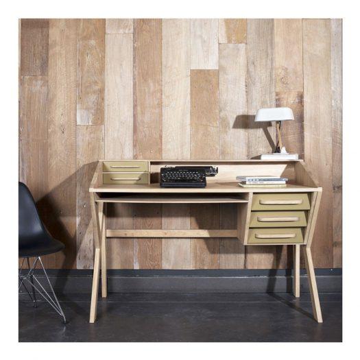 Oak Origami Desk – Cream