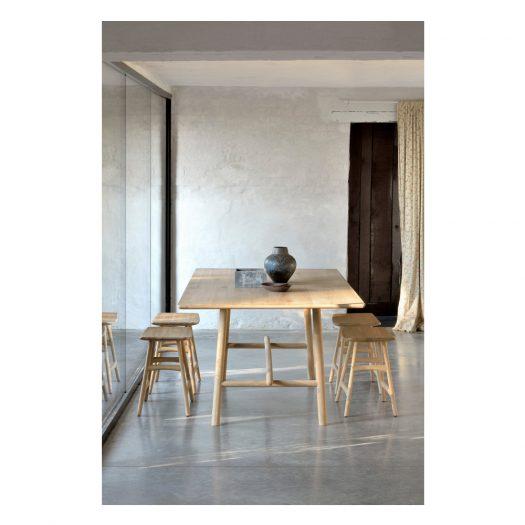 Oak Profile Dining Table – Varnished