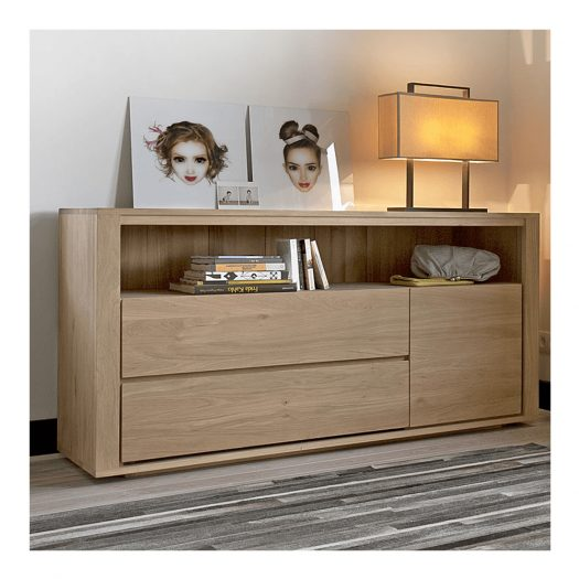 Oak Shadow Chest Of Drawers