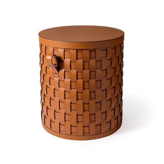 Demetra Short Round Basket