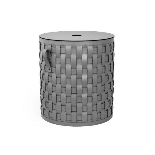 Demetra Short Round Basket With Flat Lid