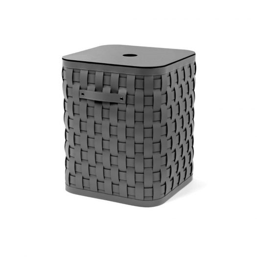 Demetra Large Square Basket With Flat Lid