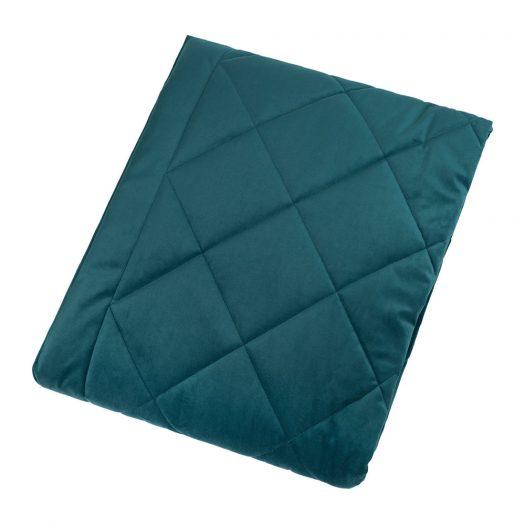 Diamond Velvet Bedspread - Ocean - 140x200cm