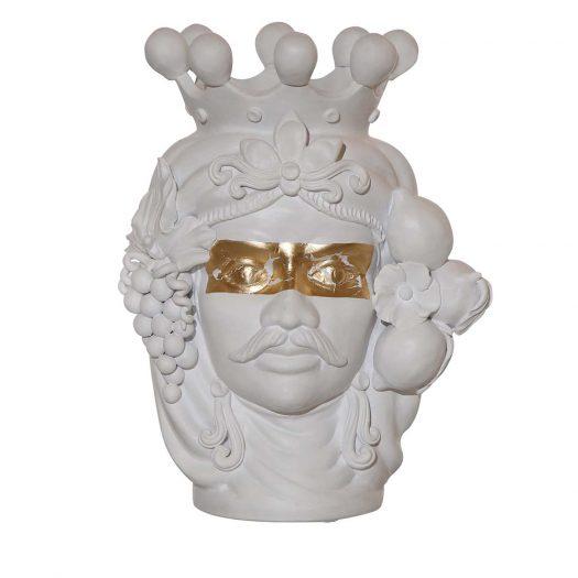 Don Venerando Head Vase by Stefania Boemi