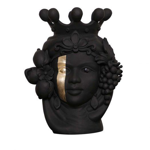 Donna Carmela Black Vase by Stefania Boemi