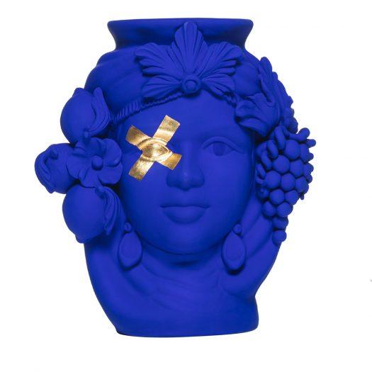 Cec Blue Oltremare Vase by Stefania Boemi