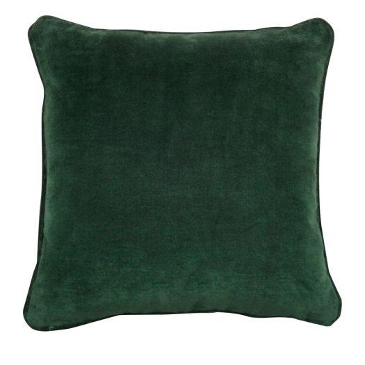 Dark Green Carre Cushion by L'Opificio