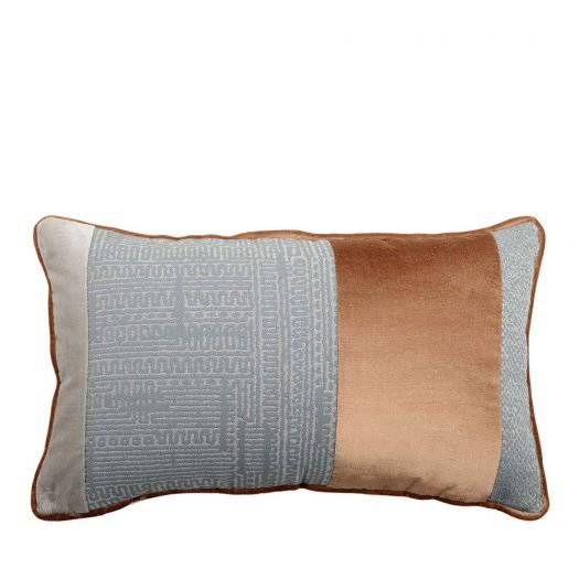 Bande Pale-Blue and Grey Pillow by L'Opificio