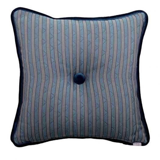 Carre Grey Tufted Pillow by L'Opificio